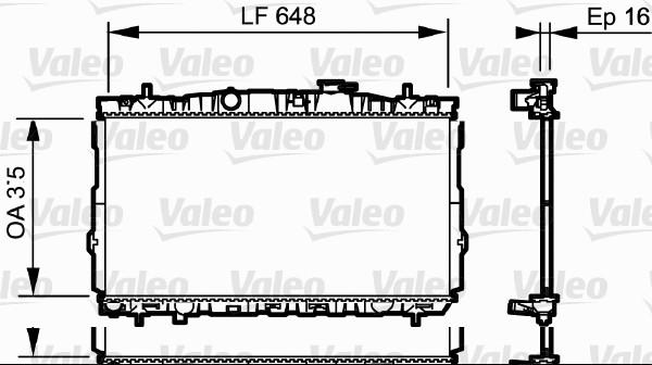 Radiateur, refroidissement du moteur - VALEO - 734903