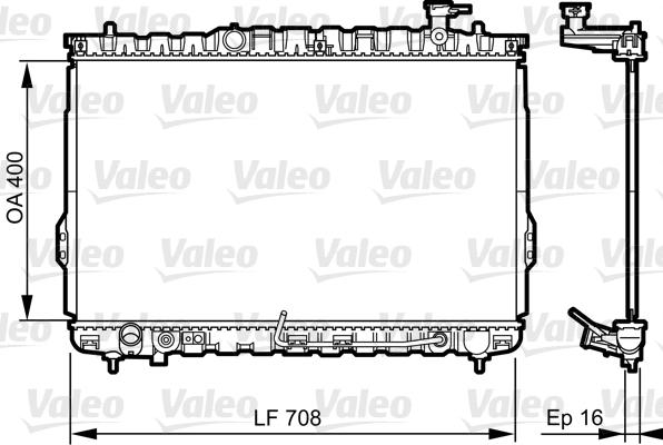 Radiateur, refroidissement du moteur - VALEO - 734909