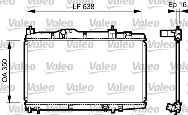 Radiateur, refroidissement du moteur - VALEO - 734916