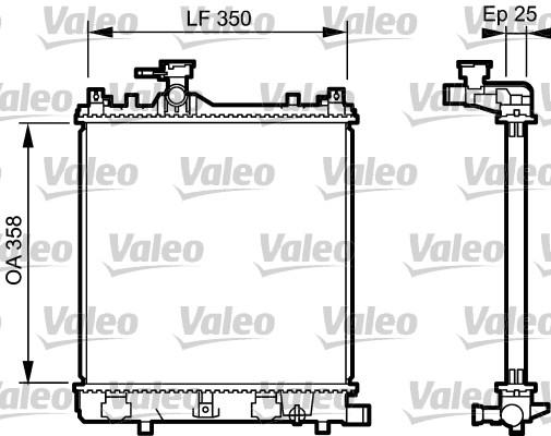 Radiateur, refroidissement du moteur - VALEO - 734917