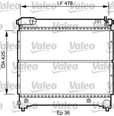 Radiateur, refroidissement du moteur - VALEO - 734918