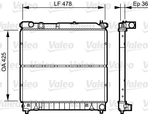 Radiateur, refroidissement du moteur - VALEO - 734919