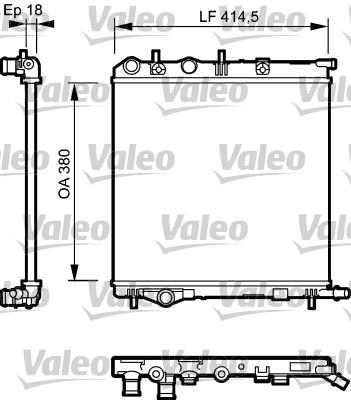 Radiateur, refroidissement du moteur - VALEO - 734921