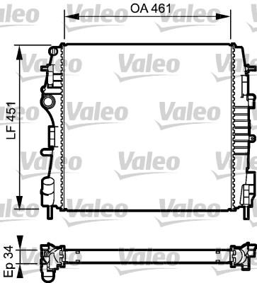 Radiateur, refroidissement du moteur - VALEO - 734922