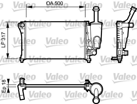 Radiateur, refroidissement du moteur - VALEO - 734923