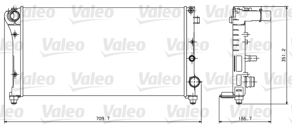 Radiateur, refroidissement du moteur - VALEO - 734924