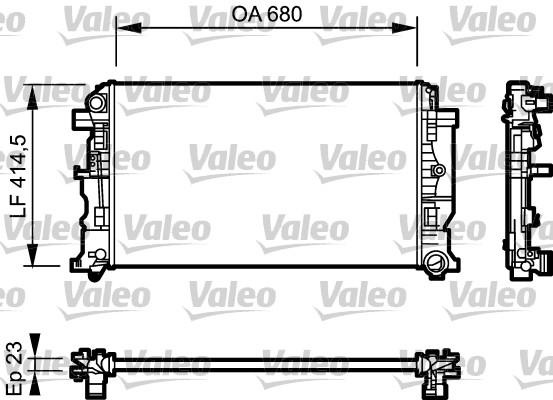 Radiateur, refroidissement du moteur - VALEO - 734926