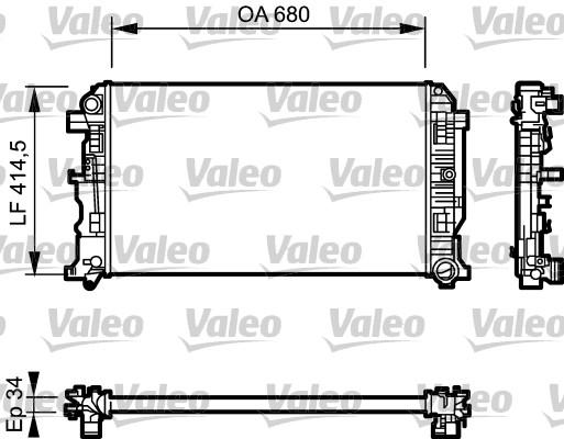 Radiateur, refroidissement du moteur - VALEO - 734928