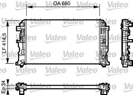 Radiateur, refroidissement du moteur - VALEO - 734929