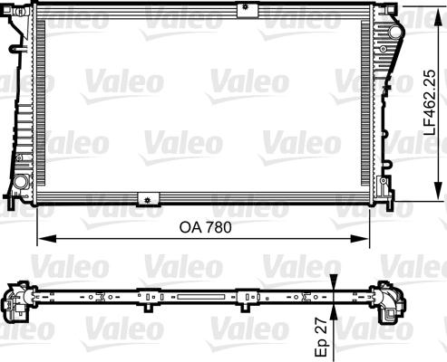 Radiateur, refroidissement du moteur - VALEO - 734931
