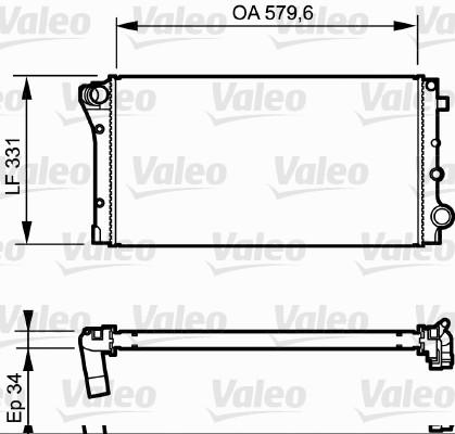Radiateur, refroidissement du moteur - VALEO - 734932