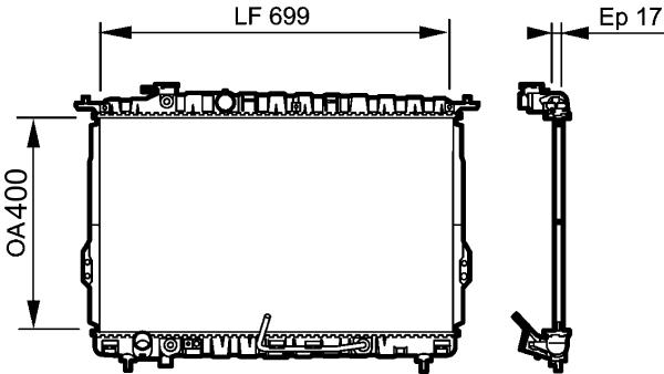 Radiateur, refroidissement du moteur - VALEO - 734949