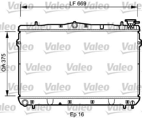 Radiateur, refroidissement du moteur - VALEO - 734950