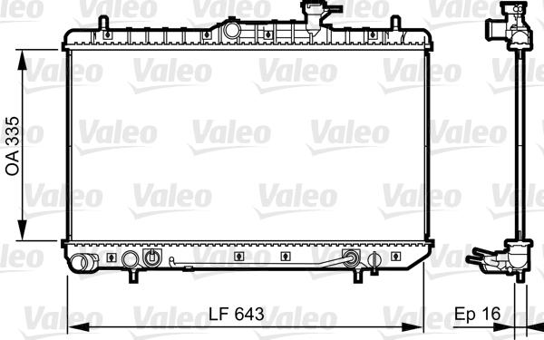 Radiateur, refroidissement du moteur - VALEO - 734960