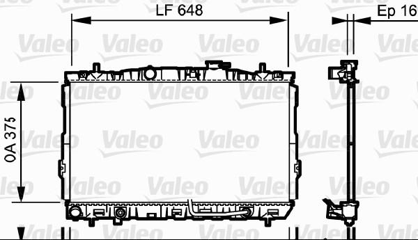 Radiateur, refroidissement du moteur - VALEO - 734965