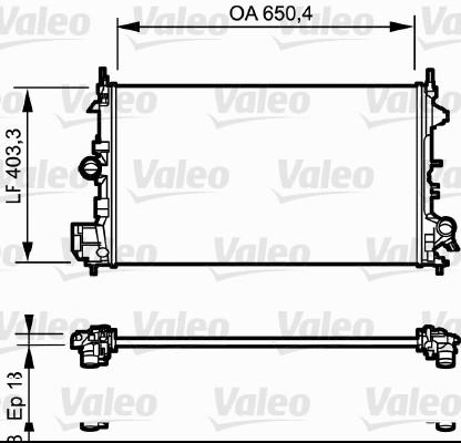 Radiateur, refroidissement du moteur - VALEO - 734981