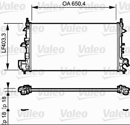 Radiateur, refroidissement du moteur - VALEO - 734982