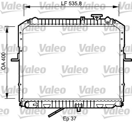 Radiateur, refroidissement du moteur - VALEO - 734990