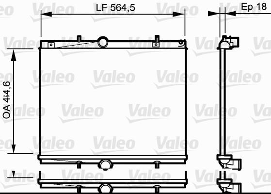 Radiateur, refroidissement du moteur - VALEO - 735020
