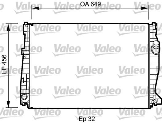 Radiateur, refroidissement du moteur - VALEO - 735021