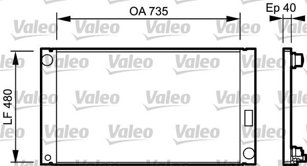 Radiateur, refroidissement du moteur - VALEO - 735033