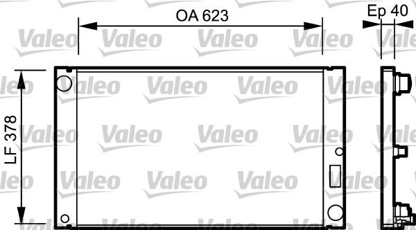 Radiateur, refroidissement du moteur - VALEO - 735036