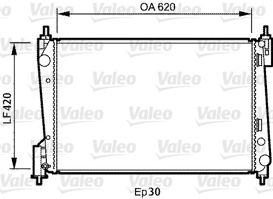 Radiateur, refroidissement du moteur - VALEO - 735040