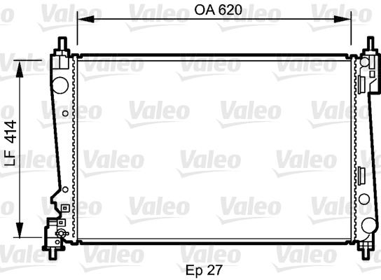 Radiateur, refroidissement du moteur - VALEO - 735041