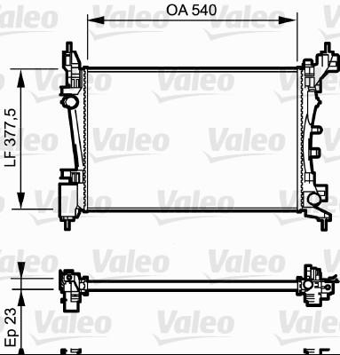 Radiateur, refroidissement du moteur - VALEO - 735042