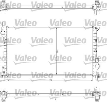 Radiateur, refroidissement du moteur - VALEO - 735043