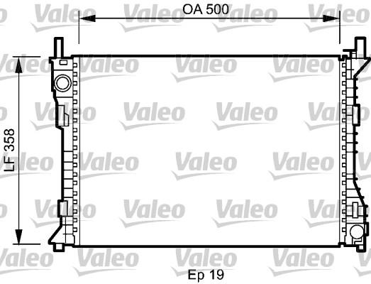 Radiateur, refroidissement du moteur - VALEO - 735045