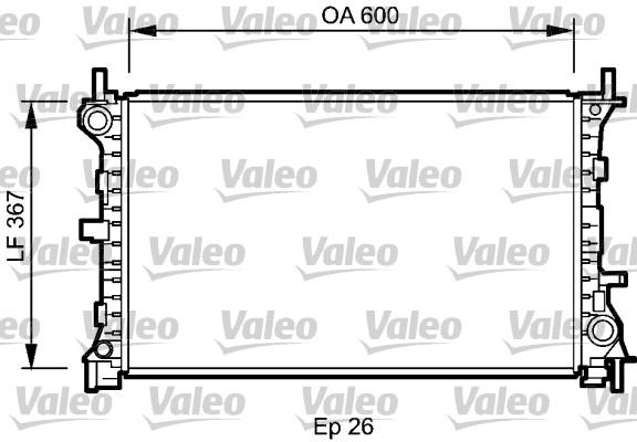 Radiateur, refroidissement du moteur - VALEO - 735046