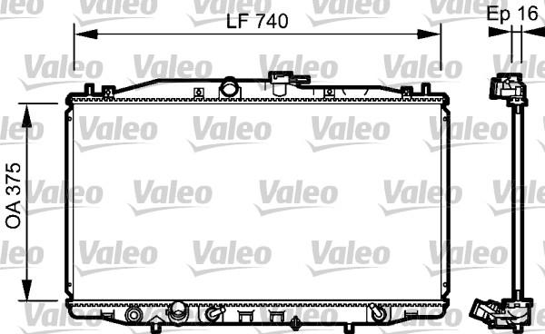 Radiateur, refroidissement du moteur - VALEO - 735050
