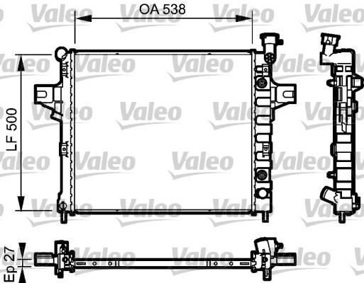 Radiateur, refroidissement du moteur - VALEO - 735051