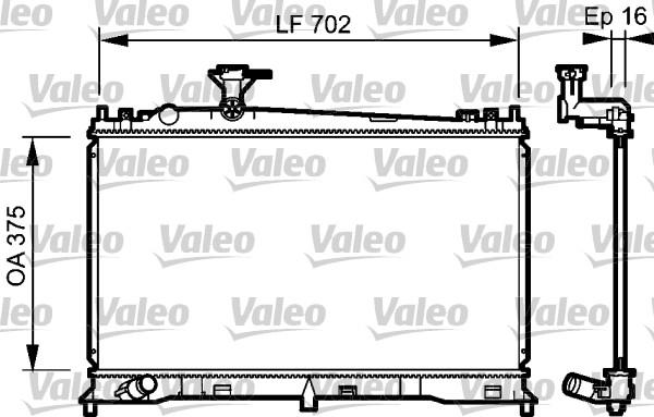 Radiateur, refroidissement du moteur - VALEO - 735053