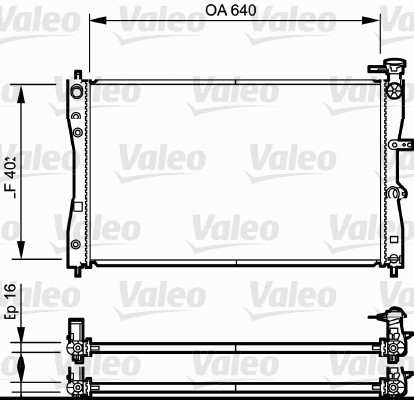 Radiateur, refroidissement du moteur - VALEO - 735055
