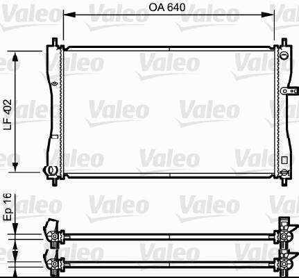 Radiateur, refroidissement du moteur - VALEO - 735056