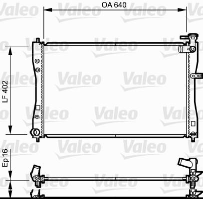 Radiateur, refroidissement du moteur - VALEO - 735057