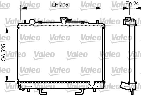 Radiateur, refroidissement du moteur - VALEO - 735058