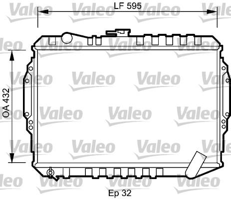 Radiateur, refroidissement du moteur - VALEO - 735060