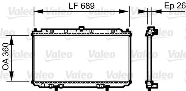 Radiateur, refroidissement du moteur - VALEO - 735061