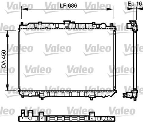Radiateur, refroidissement du moteur - VALEO - 735062