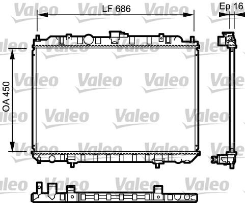 Radiateur, refroidissement du moteur - VALEO - 735063