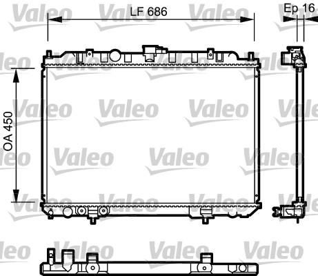 Radiateur, refroidissement du moteur - VALEO - 735064