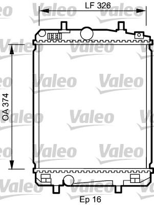 Radiateur, refroidissement du moteur - VALEO - 735070