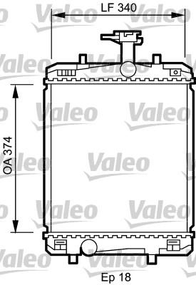 Radiateur, refroidissement du moteur - VALEO - 735072