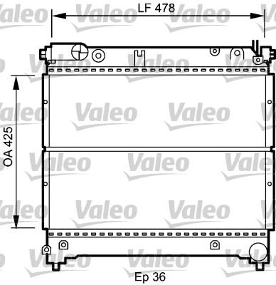 Radiateur, refroidissement du moteur - VALEO - 735073