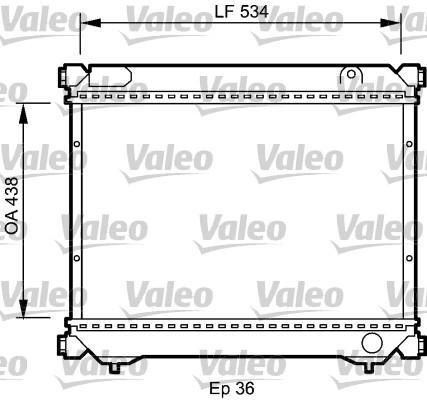 Radiateur, refroidissement du moteur - VALEO - 735074