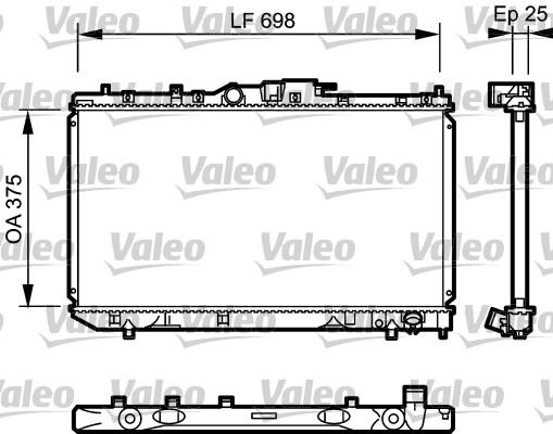 Radiateur, refroidissement du moteur - VALEO - 735075
