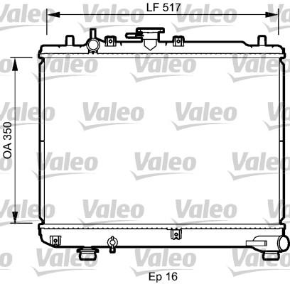 Radiateur, refroidissement du moteur - VALEO - 735076